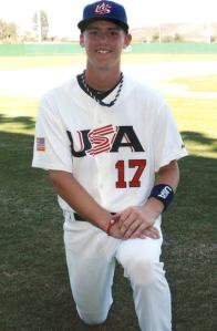 Playing for team USA