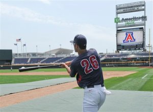 Hitting fungoes at the CWS