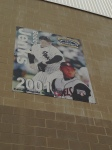They have some of the bigger names on huge posters outside the stadium. Here is 2005 White Sox World Series hero Bobby Jenks