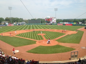 View from broadcast booth