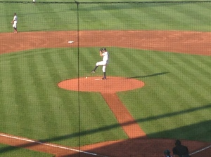 Love the cutout between the mound and plate
