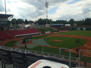 View from the 1st base deck