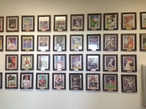 Press Box puts up oversized baseball cards when guys make their MLB debut