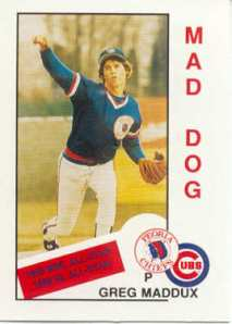 Greg Maddux 1985 Baseball Card.