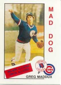 Greg Maddux 1985 Baseball Card.