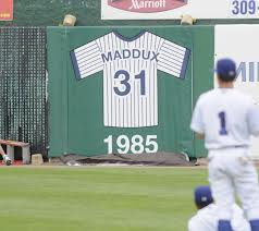 Retired number on the wall.