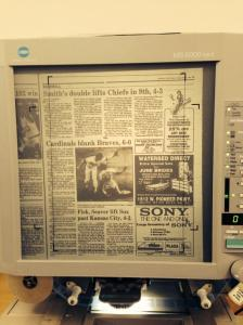 Microfilm of 1985 files for the Peoria Journal Star