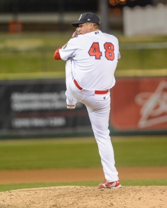 Joe Scanio pitching April 9th (Dennis Sievers)