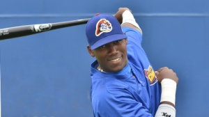 Jorge Soler posing at Beloit Aug 12, 2012. (Paul Gierhart)