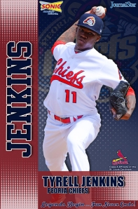 Tyrell Jenkins pitched for the Chiefs in 2013 and was named a MWL All-Star but missed the game with an injury