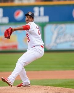 Alex Reyes finds himself ranked top 4 in the Cardinals system. Photo by Dennis Sievers